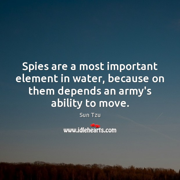 Image, Spies are a most important element in water, because on them depends