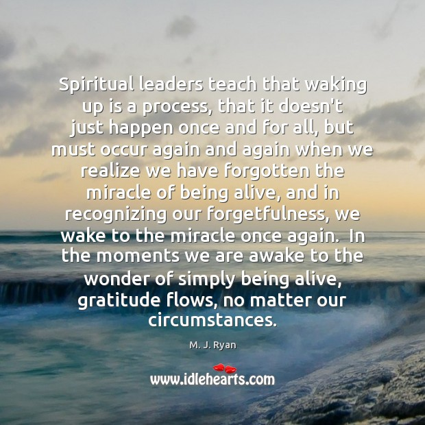 Image, Spiritual leaders teach that waking up is a process, that it doesn't