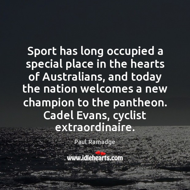 Sport has long occupied a special place in the hearts of Australians, Image