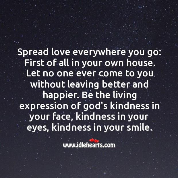 Image, Spread love everywhere you go