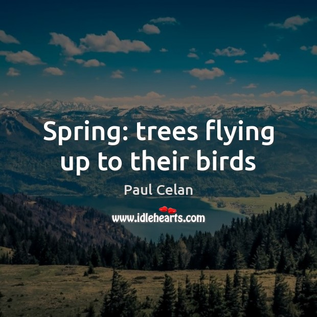 Spring: trees flying up to their birds Image