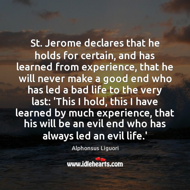 Image, St. Jerome declares that he holds for certain, and has learned from