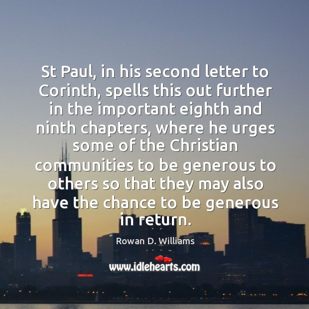 Image, St paul, in his second letter to corinth