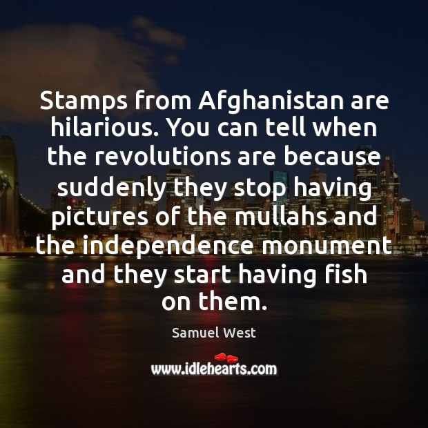 Stamps from Afghanistan are hilarious. You can tell when the revolutions are Image