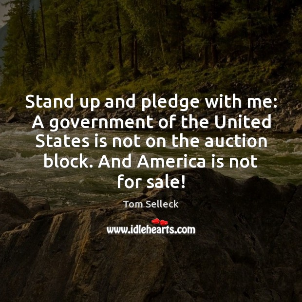 Stand up and pledge with me: A government of the United States Image