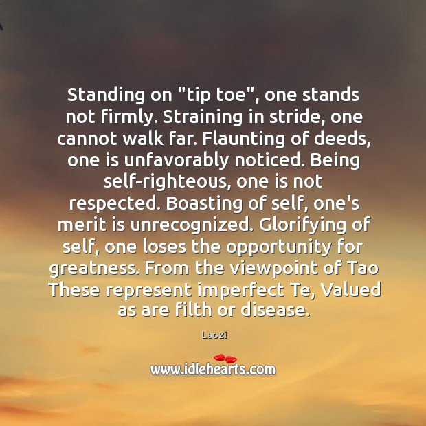 "Image, Standing on ""tip toe"", one stands not firmly. Straining in stride, one"