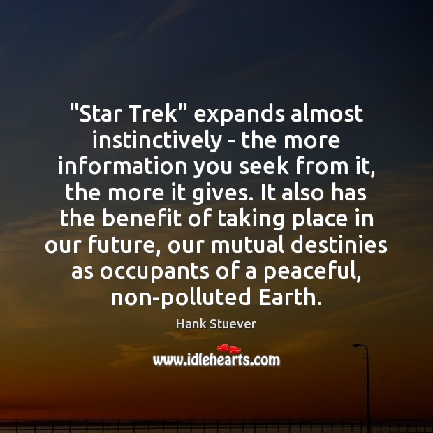 """Star Trek"" expands almost instinctively – the more information you seek from Image"