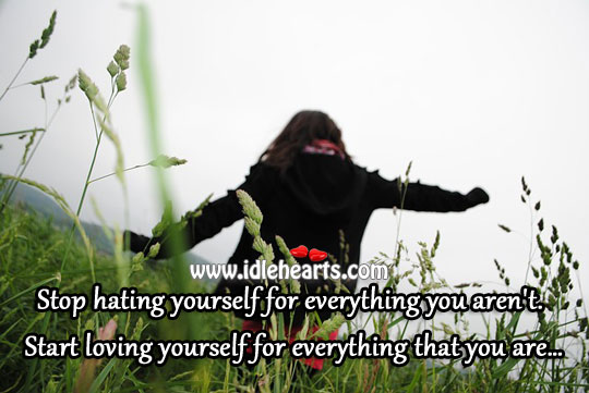 Stop Hating Yourself For Everything