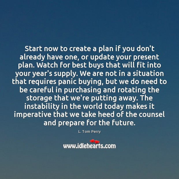 Image, Start now to create a plan if you don't already have one,