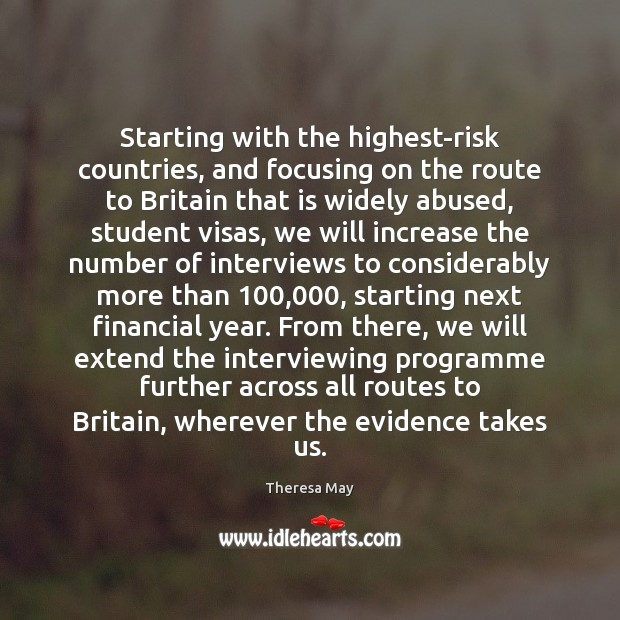 Starting with the highest-risk countries, and focusing on the route to Britain Image