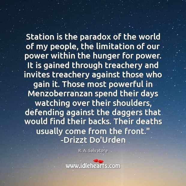 Image, Station is the paradox of the world of my people, the limitation