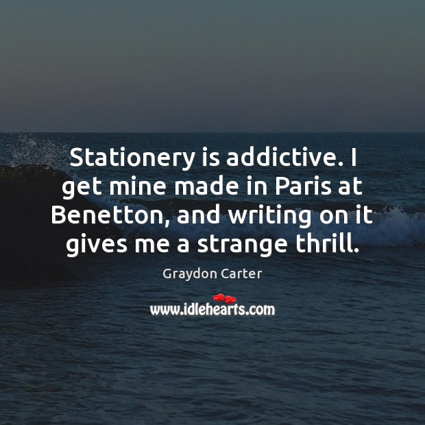Image, Stationery is addictive. I get mine made in Paris at Benetton, and