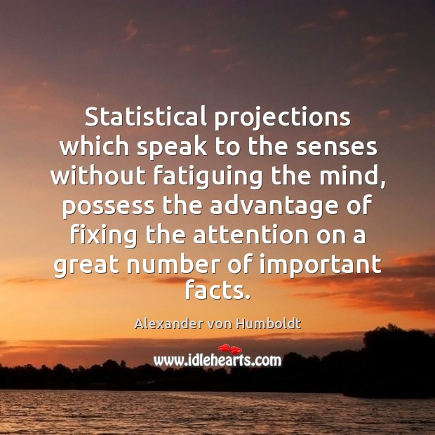 Image, Statistical projections which speak to the senses without fatiguing the mind, possess