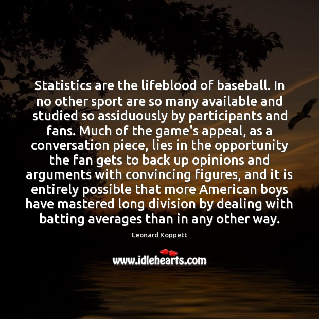 Image, Statistics are the lifeblood of baseball. In no other sport are so