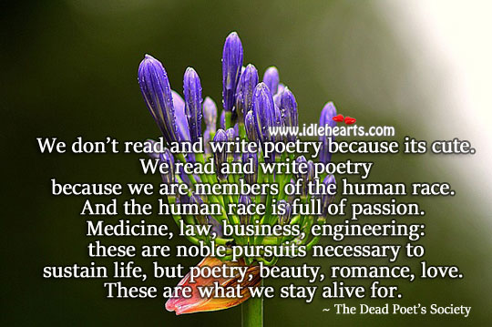 Human race is full of passion. Passion Quotes Image