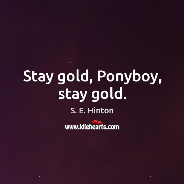 Stay gold, Ponyboy, stay gold. Image