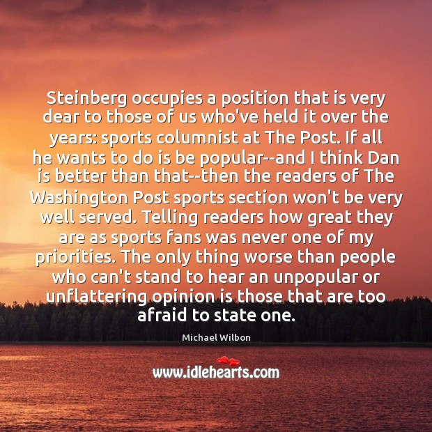 Steinberg occupies a position that is very dear to those of us Image