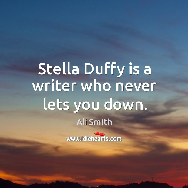 Stella Duffy is a writer who never lets you down. Image