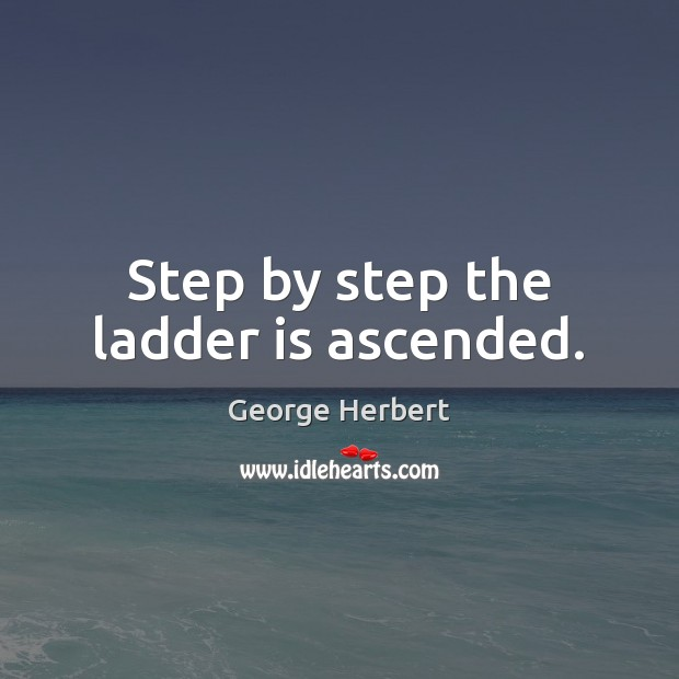 Image, Step by step the ladder is ascended.