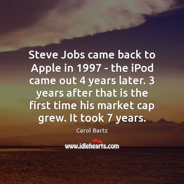 Image, Steve Jobs came back to Apple in 1997 – the iPod came out 4