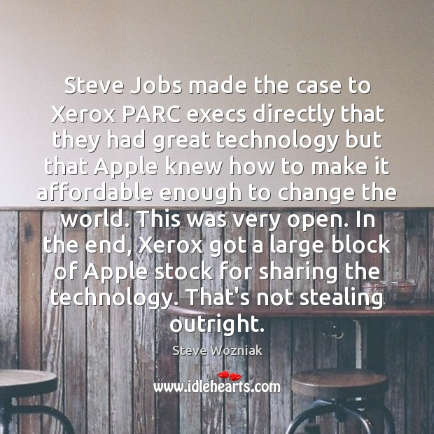 Steve Jobs made the case to Xerox PARC execs directly that they Image