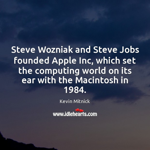 Image, Steve Wozniak and Steve Jobs founded Apple Inc, which set the computing