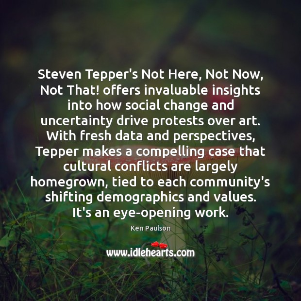 Steven Tepper's Not Here, Not Now, Not That! offers invaluable insights into Image