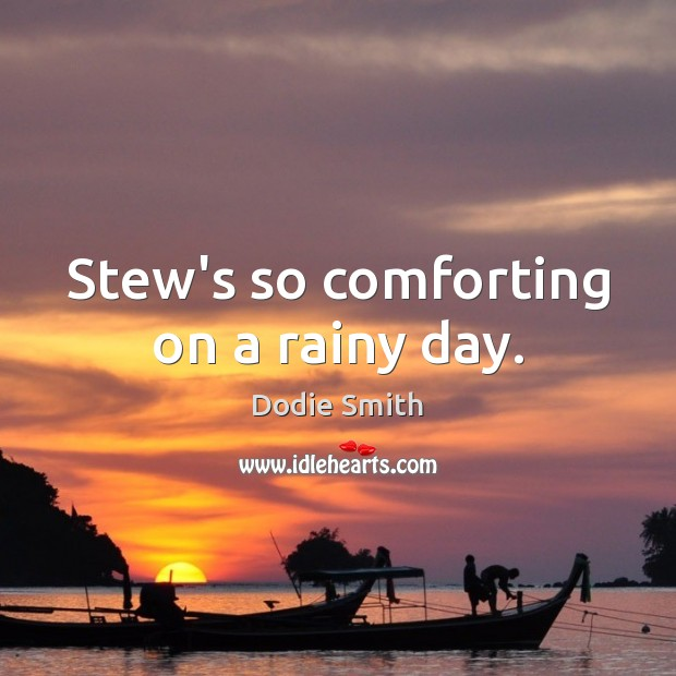 Image, Stew's so comforting on a rainy day.