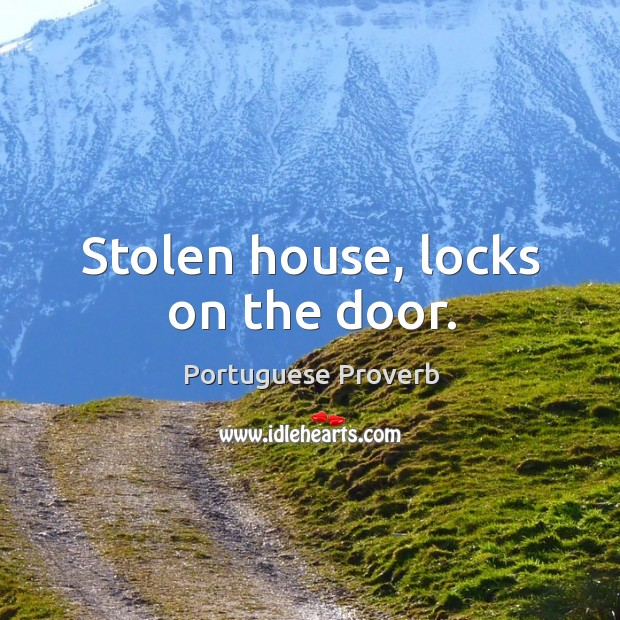 Stolen house, locks on the door. Image