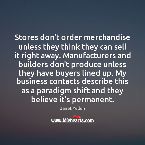 Image, Stores don't order merchandise unless they think they can sell it right