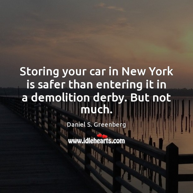 Storing your car in New York is safer than entering it in Image