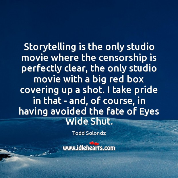 Storytelling is the only studio movie where the censorship is perfectly clear, Image
