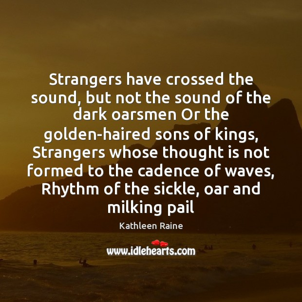 Image, Strangers have crossed the sound, but not the sound of the dark