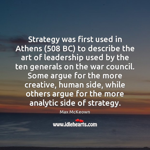 Image, Strategy was first used in Athens (508 BC) to describe the art of