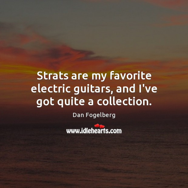 Strats are my favorite electric guitars, and I've got quite a collection. Image