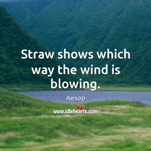 Image, Straw shows which way the wind is blowing.