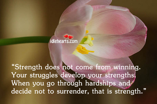 Image, Strength does not come from winning.