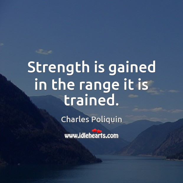 Strength is gained in the range it is trained. Strength Quotes Image