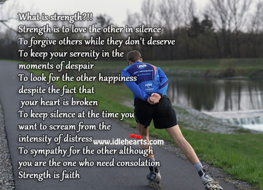 Strength is in faith Strength Quotes Image