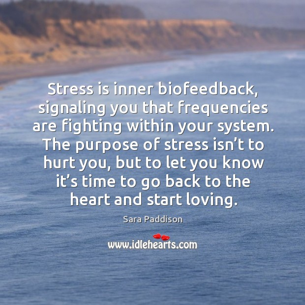 Stress is inner biofeedback, signaling you that frequencies are fighting within your system. Image