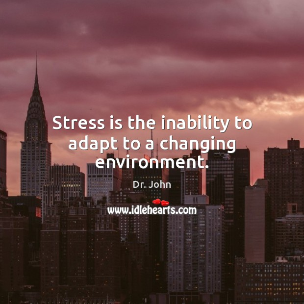 Image, Stress is the inability to adapt to a changing environment.