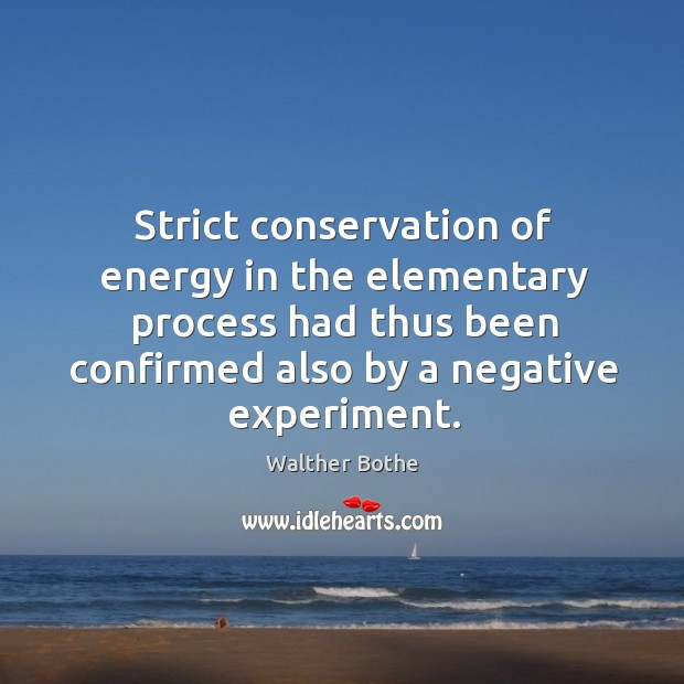 Strict conservation of energy in the elementary process had thus been confirmed also by a negative experiment. Image
