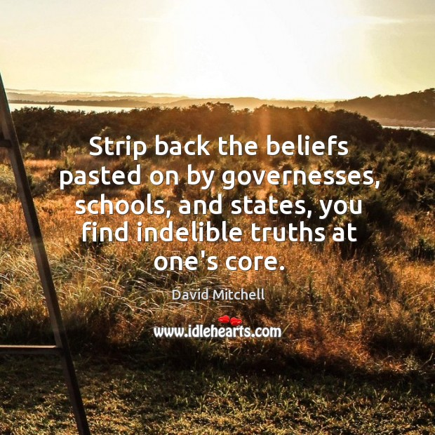 Strip back the beliefs pasted on by governesses, schools, and states, you Image