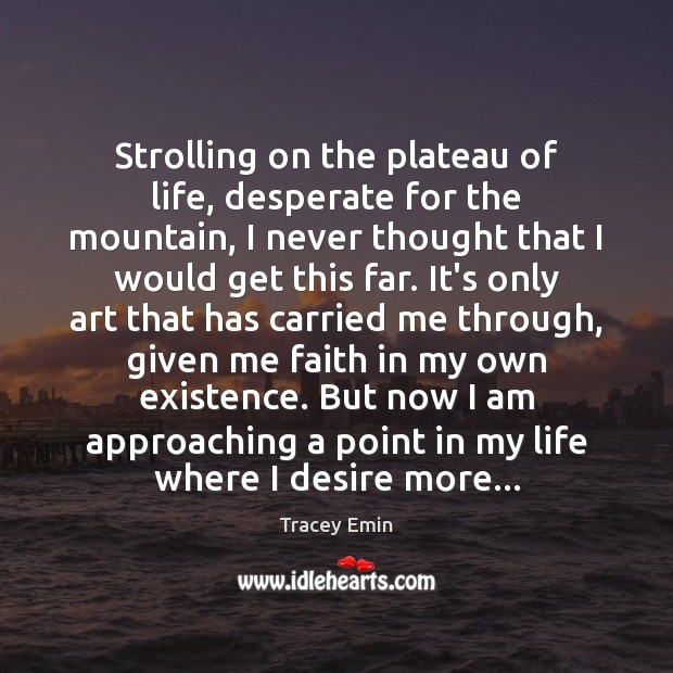 Strolling on the plateau of life, desperate for the mountain, I never Image