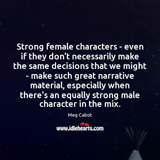Strong female characters – even if they don't necessarily make the same Image