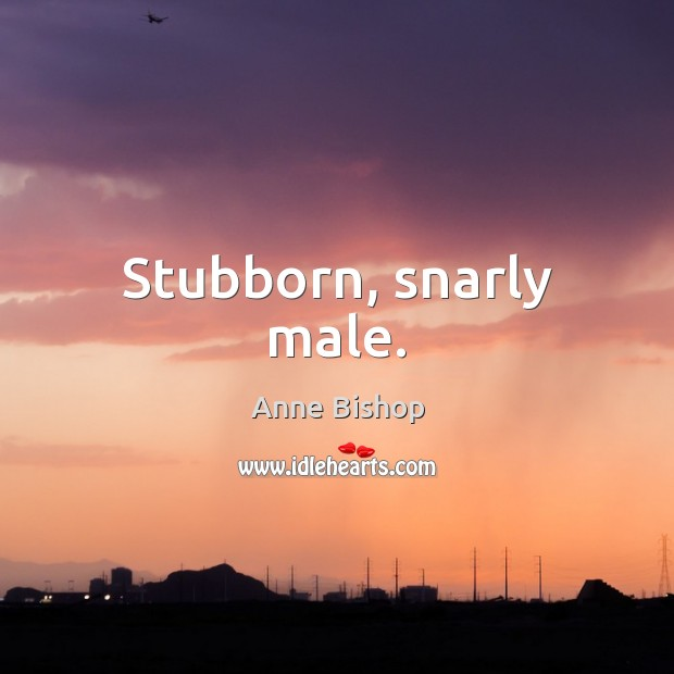 Image, Stubborn, snarly male.