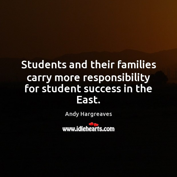 Students and their families carry more responsibility for student success in the East. Image