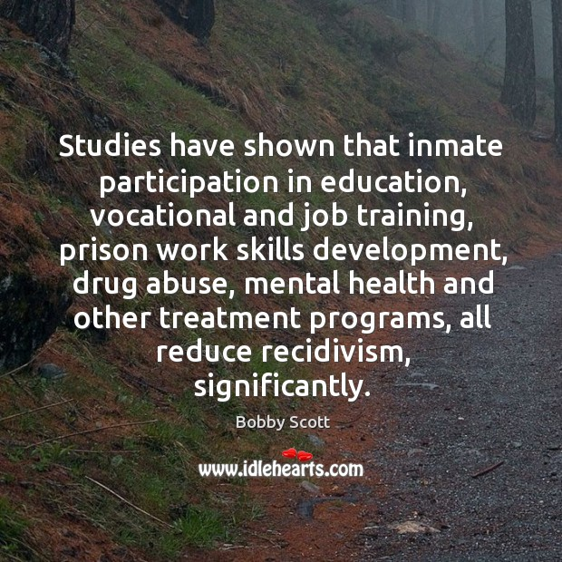 Studies have shown that inmate participation in education Image
