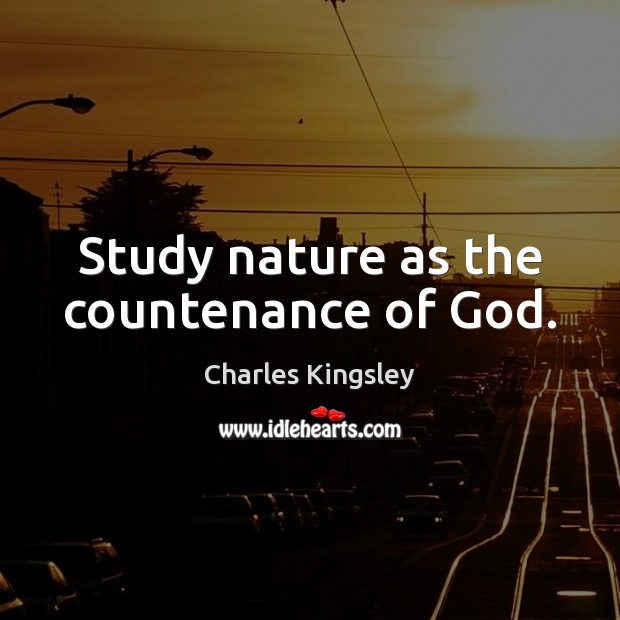 Study nature as the countenance of God. Image