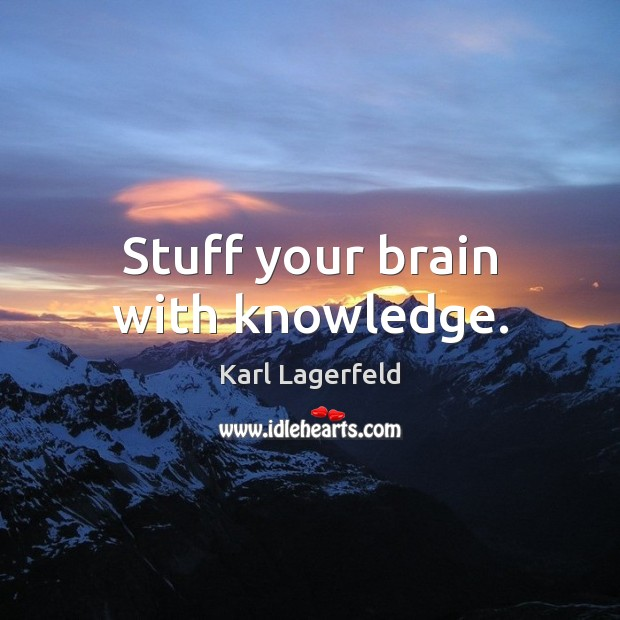 Stuff your brain with knowledge. Image